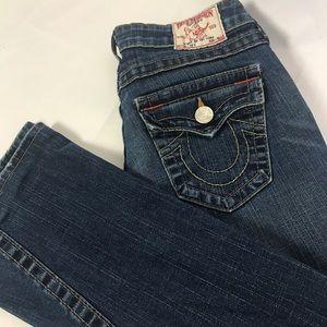 """True Religion Women's """"Joey"""" Flare Jeans Size 24"""